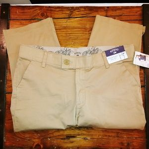 Riders by Lee khaki comfort waist capris NWT